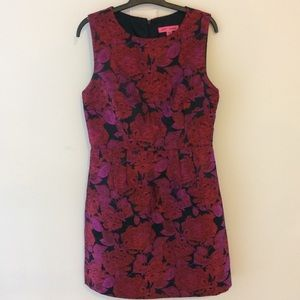 Betsey Johnson Red Pink Floral Dress